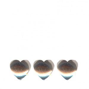 Confetti Hart 6mm Zilver