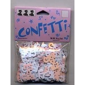 Confetti It's a Girl roze/wit