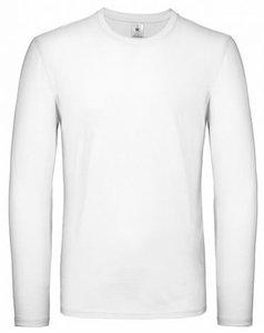 B&C Exact 150 Longsleeve T-Shirt Wit  -div. maten-  (op=op)