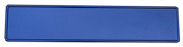 Glitter blauw kentekenplaat